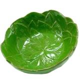 Miska 16x6cm zelená, dekor višňové listy