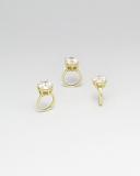 Korálek se širokým průvlekem zlato-korálek zlatý prsten