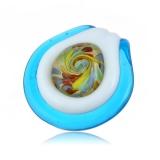 Přívěšek barevná pralinka skleněný tyrkysový