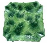 Keramický tác vinný list 35x35cm zelený