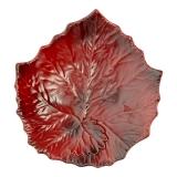 Miska 18 cm malovaná vínová, dekor list, Williams-Sonoma