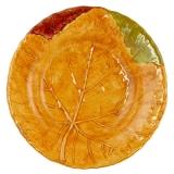 Talíř hluboký keramický, nebo miska-dekor podzimní list