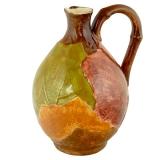 Džbán-váza-keramický, malovaný-poskládaný z listů