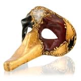 Benátská karnevalová černo-červená maska Zannini