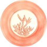 Servírovací talíř velký 33 cm, tác malovaný s korálem