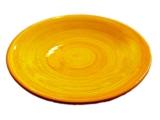 Talíř dezertní, malovaný žlutý 21-22 cm