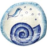 Talíř plochý dezertní 23 cm malovaný originál s mušlí