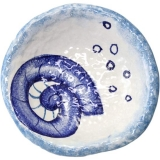 Miska malovaná, nepravidelná, originál s modrou mušlí