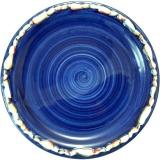 Talíř hluboký modrý 23 cm, lemovaný mušlemi