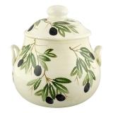 Terina -polévková mísa malovaná, dekor olivy