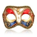 Benátská karnevalová maska-Colombina škraboška Michele