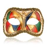 Benátská karnevalová maska-Colombina škraboška Arlecchino