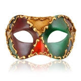 Benátská karnevalová maska-Colombina škraboška Agatha