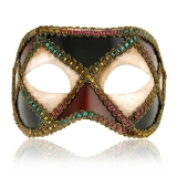Benátská karnevalová maska-Colombina škraboška Bertina