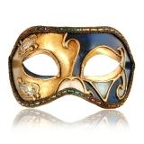 Benátská karnevalová maska-Colombina škraboška Leonardo