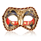 Benátská karnevalová maska-Colombina škraboška Modesto