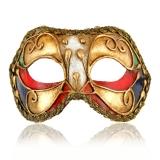 Benátská karnevalová maska-Colombina škraboška Velia