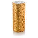 Skleněná váza hranatá pozlacená se vzorem Shirdak, vysoká