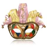 Benátská karnevalová maska-Arlecchina Onde