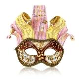 Benátská karnevalová maska-Arlecchina Onde Red