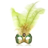 Benátská karnevalová maska-Feathers Ciuffo škraboška