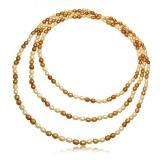 Perlový náhrdelník,  perly 7 mm, dlouhý 199 cm
