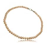 Perlový náhrdelník, perly růžové 7-8 mm, vázané