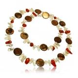 Perlový náhrdelník, perly 17 mm a barevná perleť