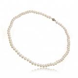 Náhrdelník s perlami, perly vázané 5-6 mm