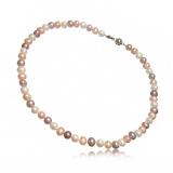 Perlový náhrdelník,  perly říční vázané 7-8 mm