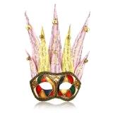 Benátská karnevalová maska-Ciuffo Arlecchino