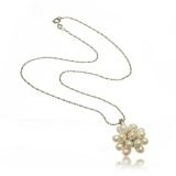 Náhrdelník s perlami, perly-v květu, 42 cm