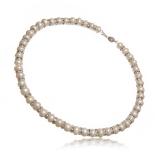 Luxusní náhrdelník bílé sladkovodní perly se zirkony