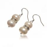 Luxusní perlové náušnice se zirkony