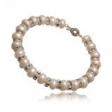 Luxusní perlový náramek se zirkony