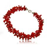 Luxusní  masivní náhrdelník korál třířadý