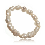 Náramek perlový, perly říční 14-18 mm, na gumičce
