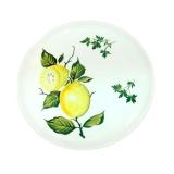 Talíř plochý malovaný-dekor citrony