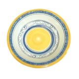 Miska hluboká malovaná modro-žlutá; v5,5x21cm