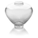 Skleněná váza široká, v27 cm-se vzorem vlnky