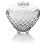 Skleněná váza široká, v27 cm-se vzorem pínie