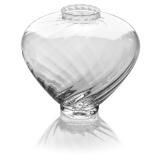 Skleněná váza široká, v27 cm-se vzorem Epoque