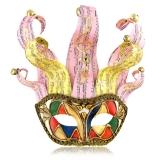 Benátská karnevalová maska-Jolly Isaia s rolničkami