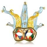 Benátská karnevalová maska Jolly Luigi, s rolničkami