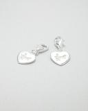 Přívěšek na karabince-stříbro-srdce Love