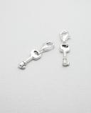Přívěšek na karabince-stříbro-malý klíček