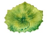 Tác vinný list 26x26cm, malovaný zelený, Williams-Sonoma