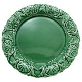 Miska zdobená starodávnými vzory, 23 cm, zelená