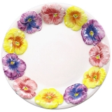 Miska nebo hluboký talíř s plastikou macešek, 23 cm