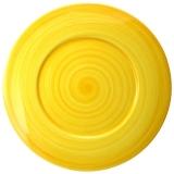 Tác keramický servírovací 33 cm, malovaný-žlutý